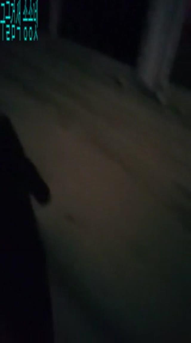 걸레 길거리에서 자위