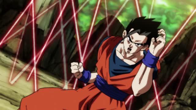 Dragon ball Super Capitulo 124 - ¡El feroz asalto abrumador! ¡El último recurso de Gohan!