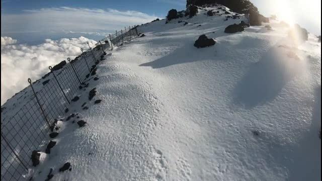 雪 の 富士山 へ go 20日 10時30分〜14時38分 TEDZU