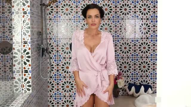 Angelina Jolie in the shower